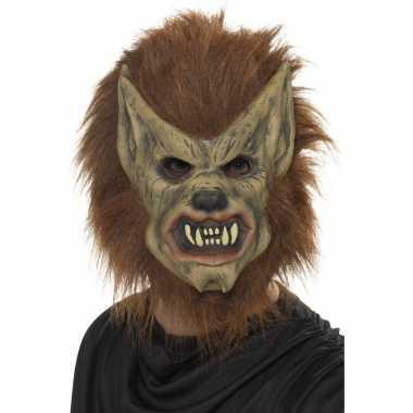 Weerwolf masker bruin voor volwassenen
