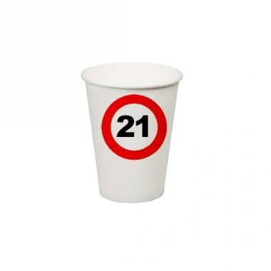 Wegwerp bekertjes 21 jaar verjaardag