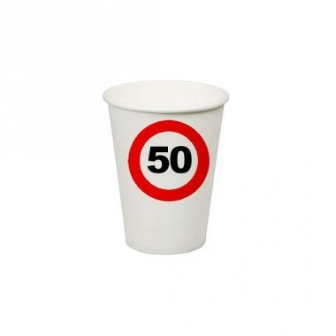 Wegwerp bekertjes 50 jaar verjaardag