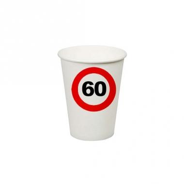 Wegwerp bekertjes 60 jaar verjaardag