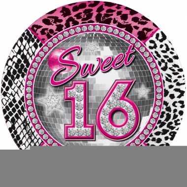 Wegwerp bordjes 16de verjaardag