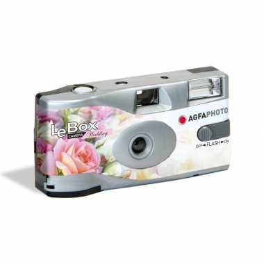 Wegwerp camera/fototoestel met flits voor 27 kleurenfotos voor bruilo