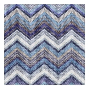 Wegwerp servetten zigzag blauw 3-laags 20 stuks