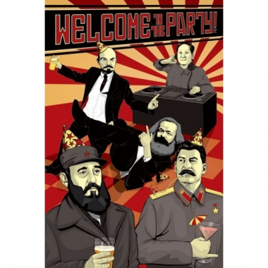 Welcome to the party maxi poster communisme