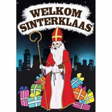 Welkom sinterklaas versiering poster