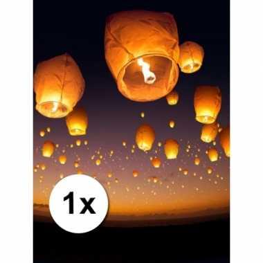 Wensballon xl wit 50 x 100 cm