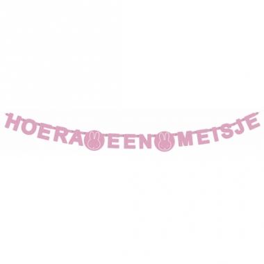 Wenslijn nijntje hoera een meisje roze