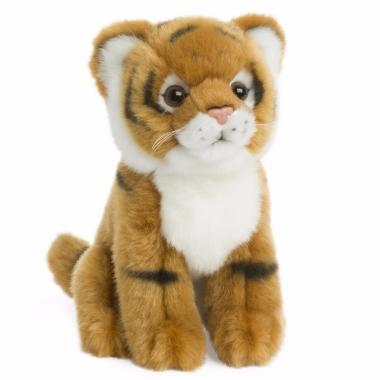 Wereld natuur fonds knuffel tijger 15 cm