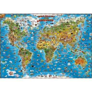 Wereldkaart poster 137 x 97 cm
