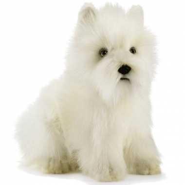 West highland white terrier knuffel hond 23 cm