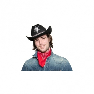 Western cowboyhoed zwart met sheriff ster