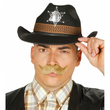 Western sheriff hoed zwart voor mannen