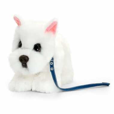 Westie honden knuffeldier wit 30 cm