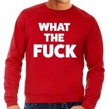What the fuck fun sweater rood voor heren