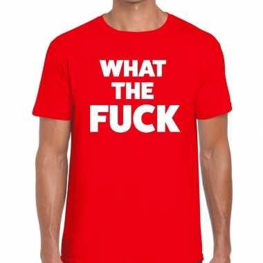 What the fuck fun t-shirt voor heren rood