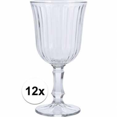 Wijn glazen 12x stuks voor witte of rode wijn