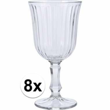 Wijn glazen 8x stuks voor witte of rode wijn