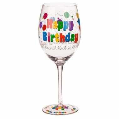 Wijnglas verjaardag 24,5 cm