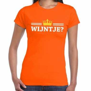 Wijntje shirt oranje dames