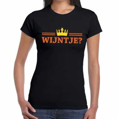 Wijntje shirt zwart voor dames