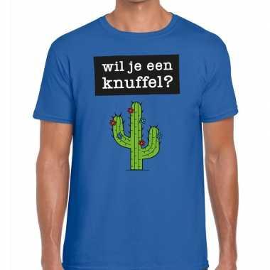 Wil je een knuffel fun t-shirt voor heren blauw