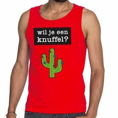 Wil je een knuffel fun tanktop / mouwloos shirt rood voor heren
