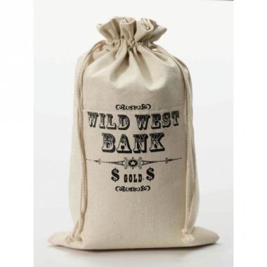 Wild west geld zak 49 cm hoog