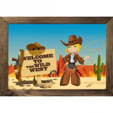 Wilde westen thema poster