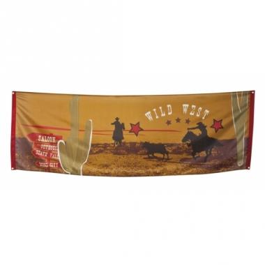 Wilde westen thema spandoek vlag 220 cm