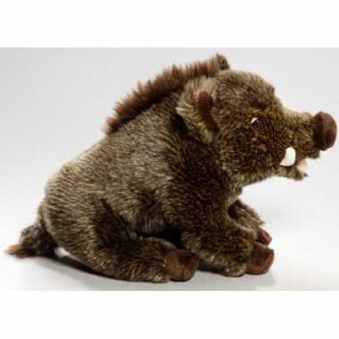 Wilde zwijn knuffeltje 28 cm