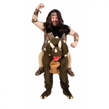 Wildeman op dinosaurus kostuum