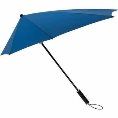Windproof storm paraplu 100 cm kobaltblauw