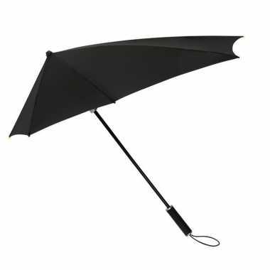 Windproof storm paraplu 100 cm zwart