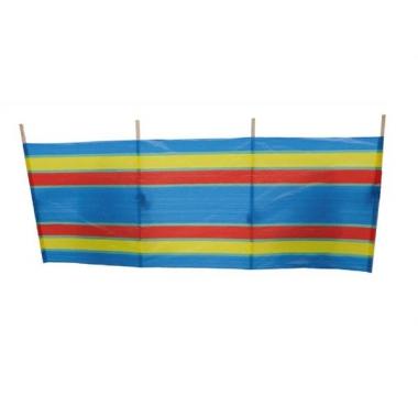 Windscherm blauw met streepjes 240 x 90 cm