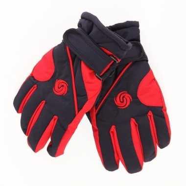 Winter handschoenen voor jongens rood/donkerblauw