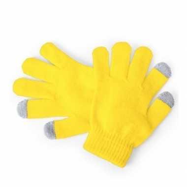 Winter handschoenen voor kinderen geel