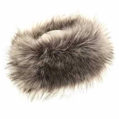 Winter hoofdbanden grijs nepbont