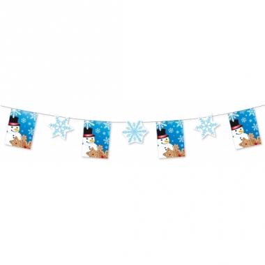 Winter sneeuwvlokken slinger 300 cm
