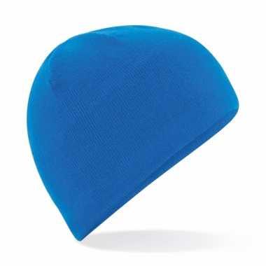 Wintermuts blauwe fleece voor dames