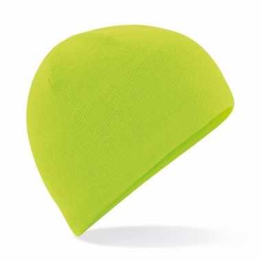 Wintermuts lime groen thermo fleece voor heren