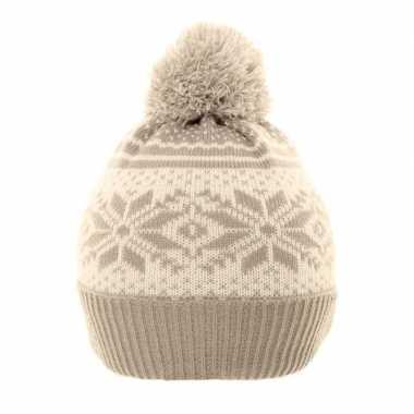 Wintermuts nordic print grijs/wit voor meisjes