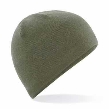 Wintermuts olijf groen fleece voor heren