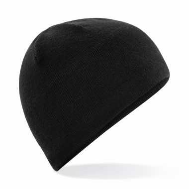 Wintermuts zwart thermo fleece voor heren