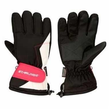 Wintersport handschoenen voor volwassenen zwart/roze