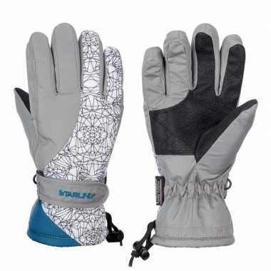 Wintersport starling mirre handschoenen voor kinderen grijs/wit/petro