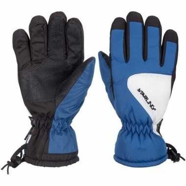 Wintersport starling riva handschoenen voor kinderen gemeleerd kobalt
