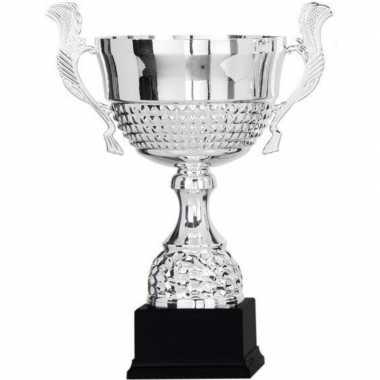 Wisselcup kampioensbeker 36 cm zilver met oren
