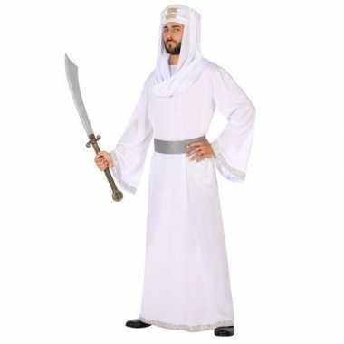 Wit 1001 nacht arabieren verkleedpak hassan voor heren
