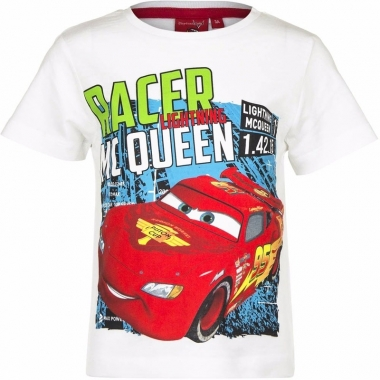 Wit cars shirt voor jongens