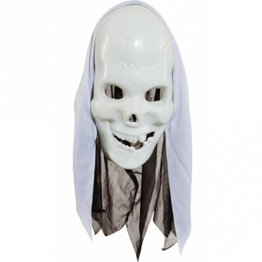 Wit doodshoofden masker